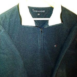 Tommy Hilfiger Blue & White Pullover Sweatshirt L